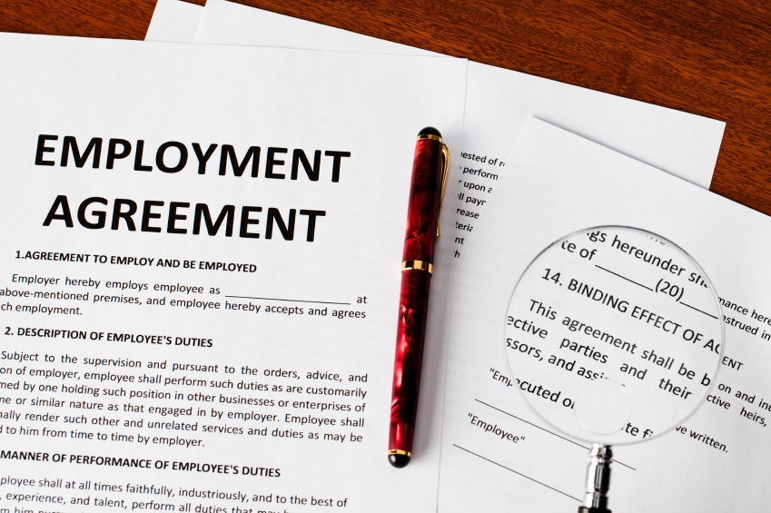 Employment contract law document